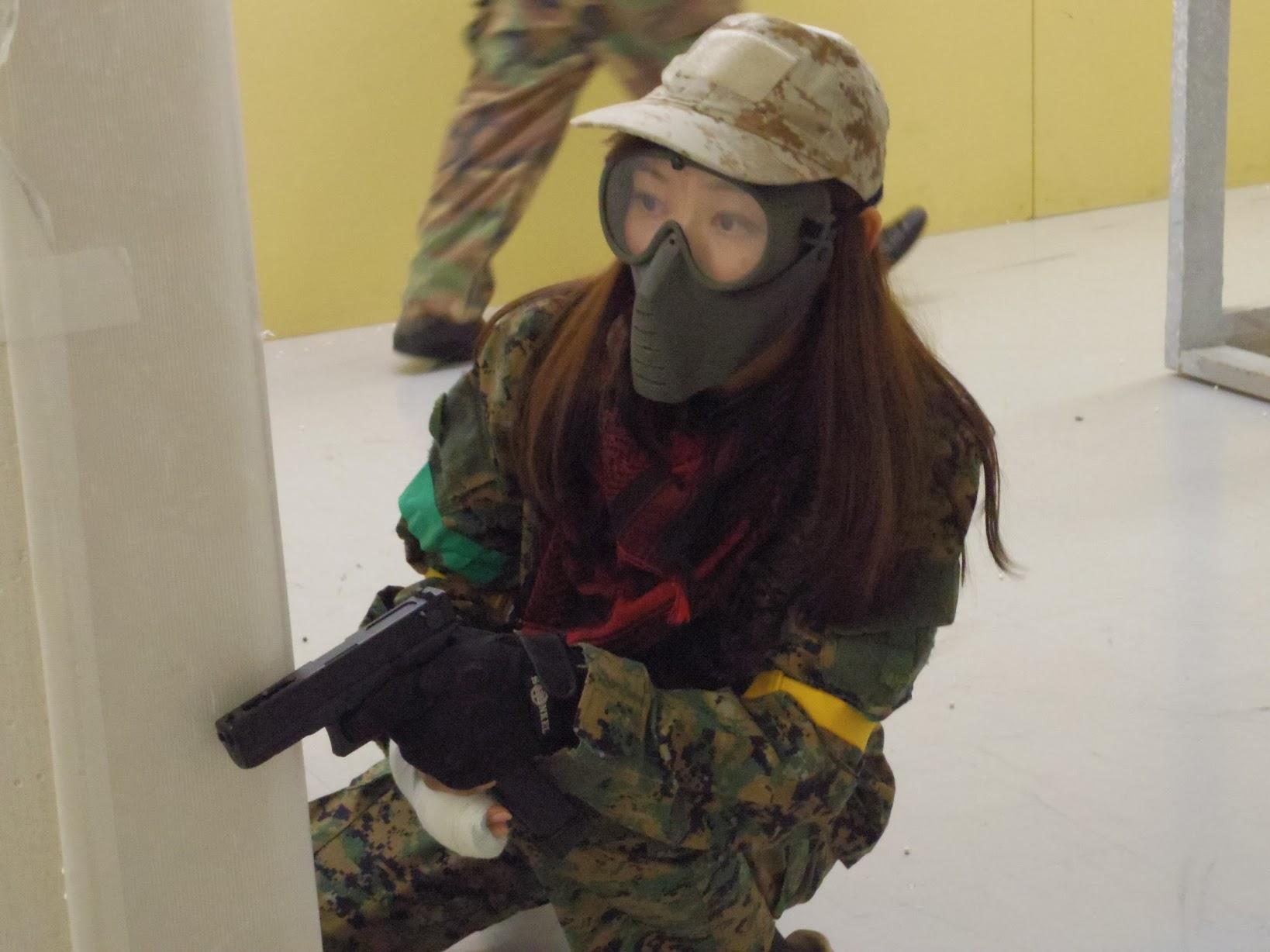 ASOBIBAで戦う!女子サバゲーマー!